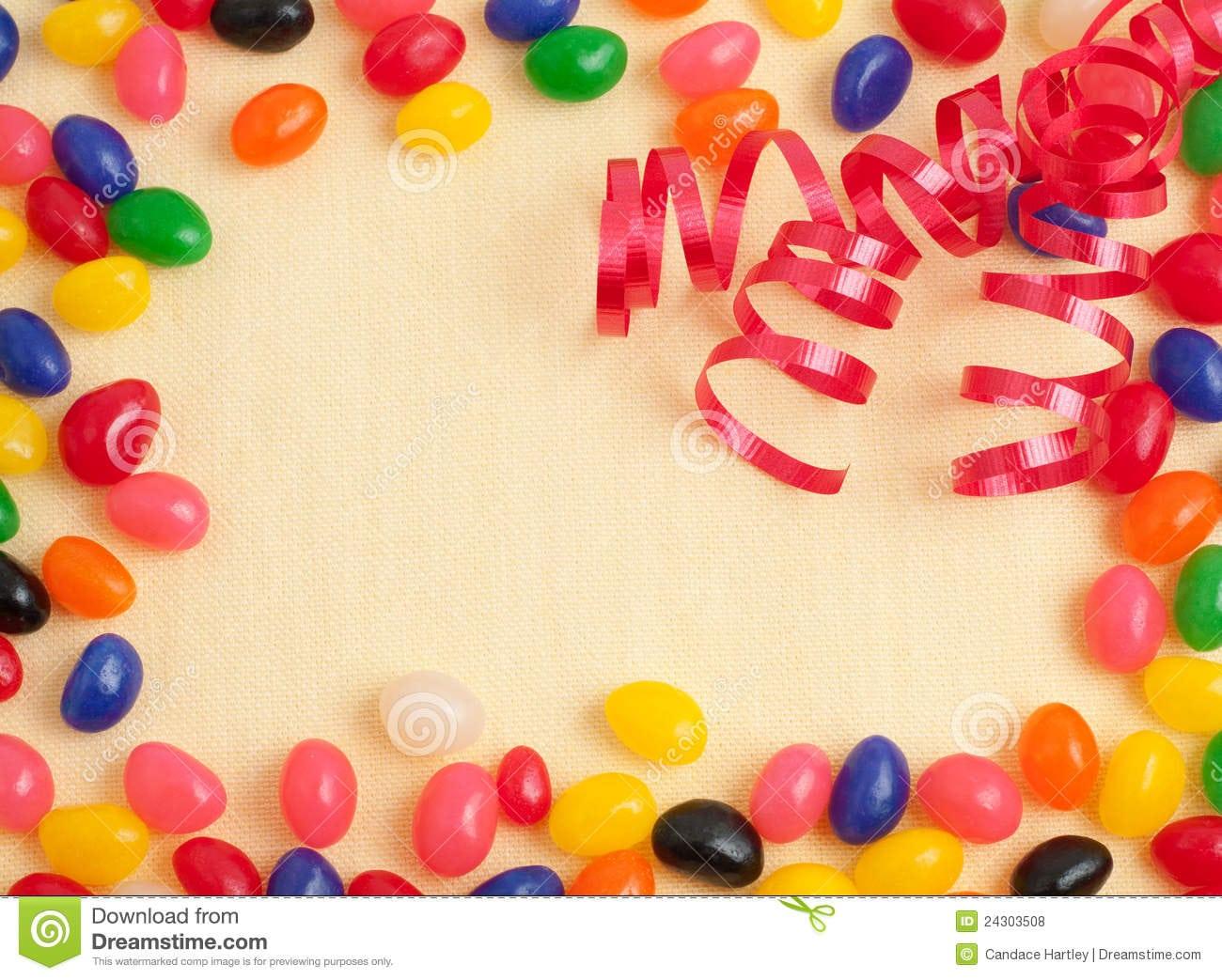 Jelly Bean Birthday Party Card Or Invitation Royalty Free Stock