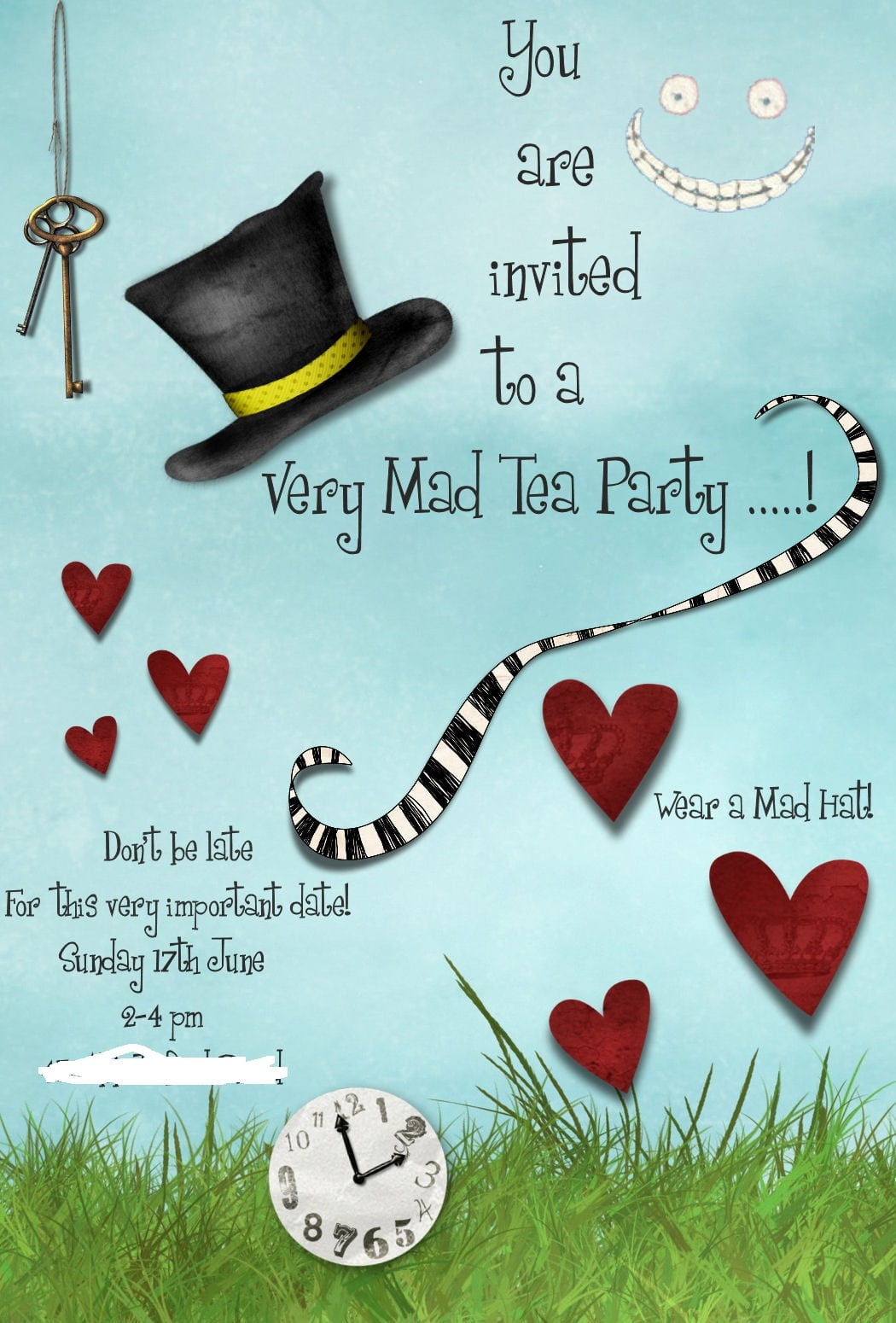 Mad hatter tea party invitation template mickey mouse jens place mad hatters tea party tea party invitation template monicamarmolfo Image collections