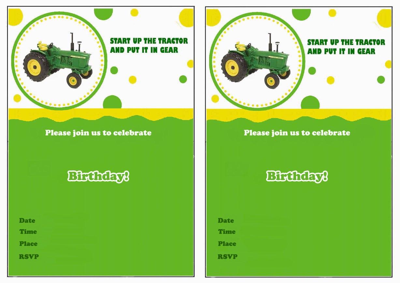 John Deere Birthday Invitations – Birthday Printable
