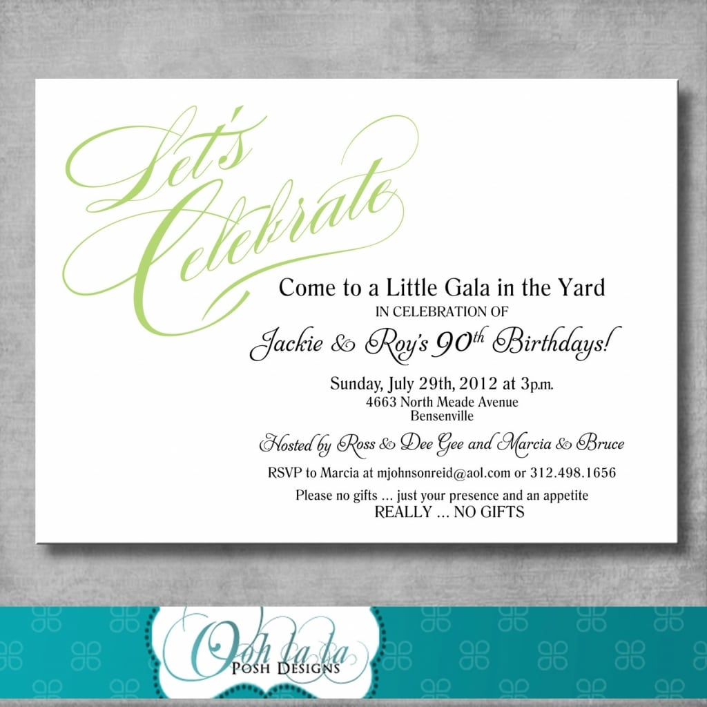 Joint Birthday Party Invitations For S