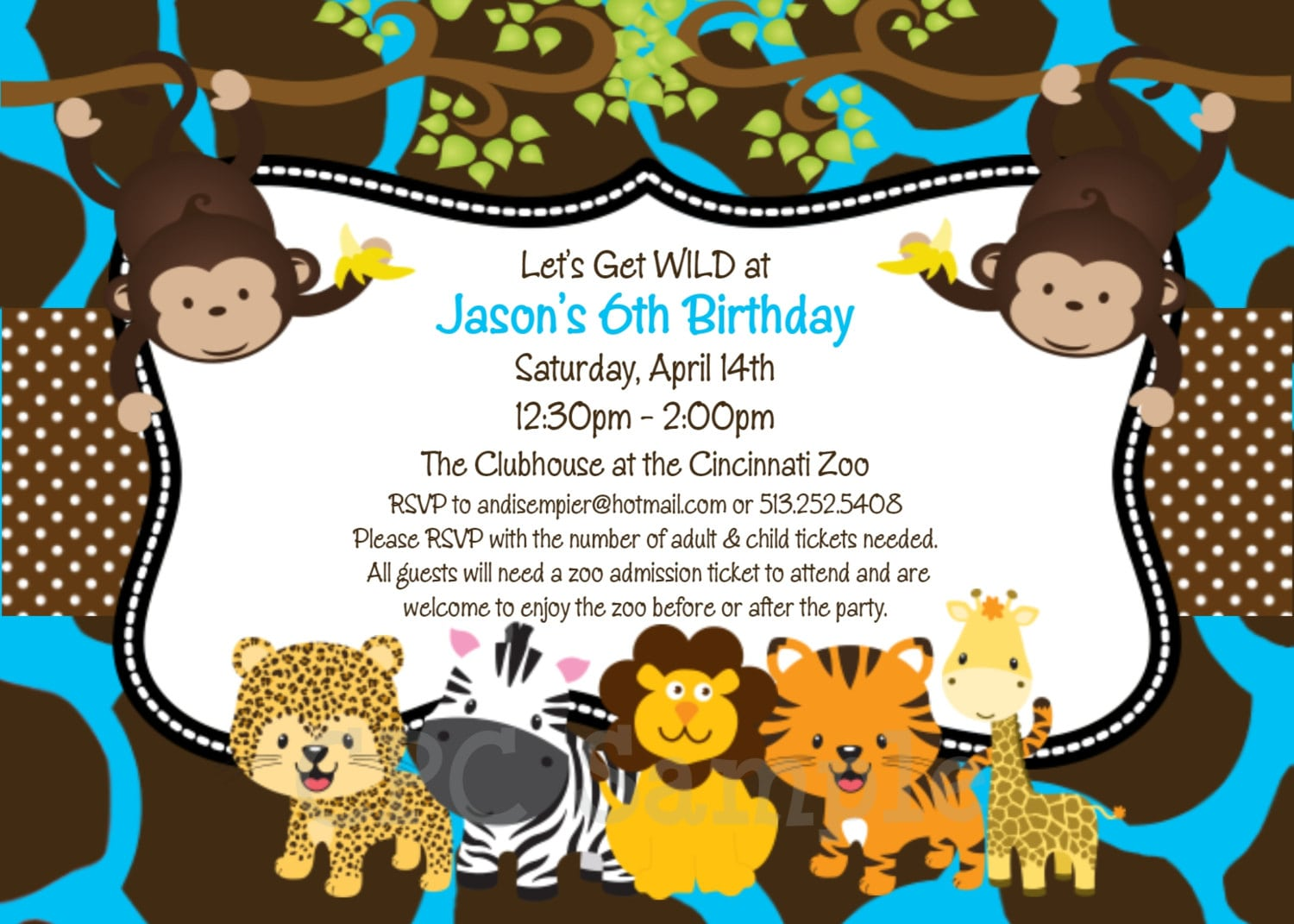 Jungle Invitations