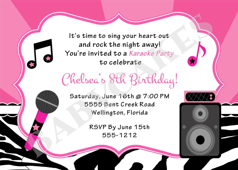 Karaoke Party Invitation - Mickey Mouse Invitations Templates