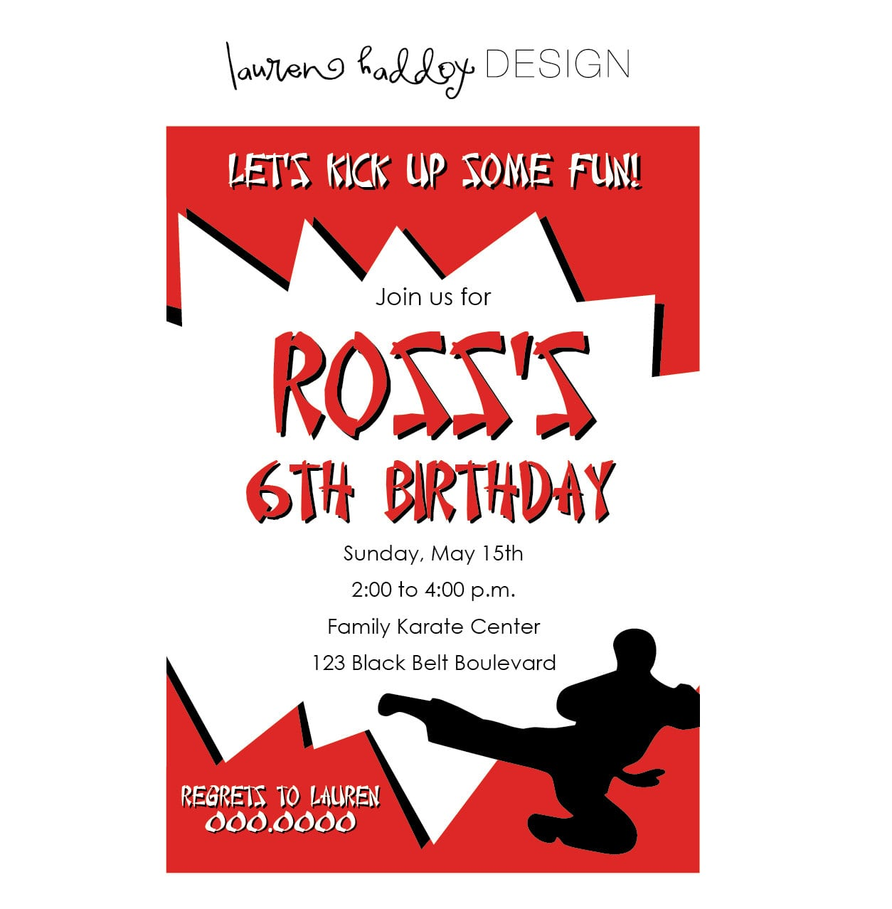 Karate Birthday Party Invitations - Mickey Mouse Invitations Templates