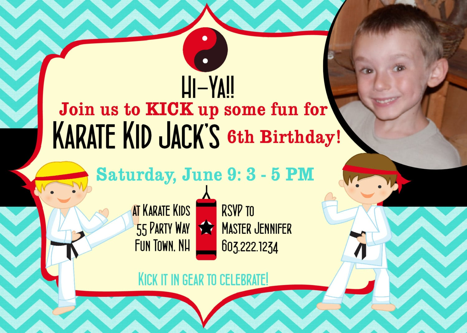 Karate Birthday Invitation Karate Party Invitations Karate