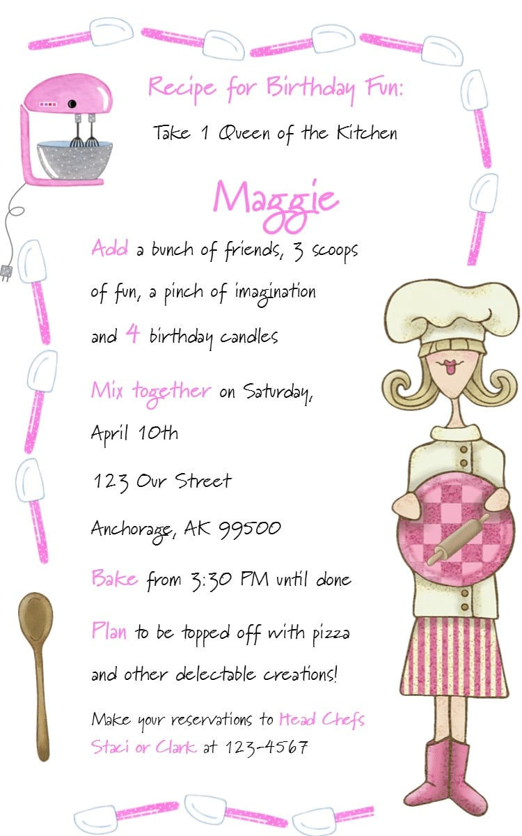 Kids Birthday Party Invitation Wording