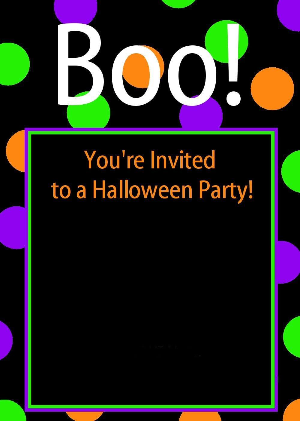 Kids Halloween Party Invitation