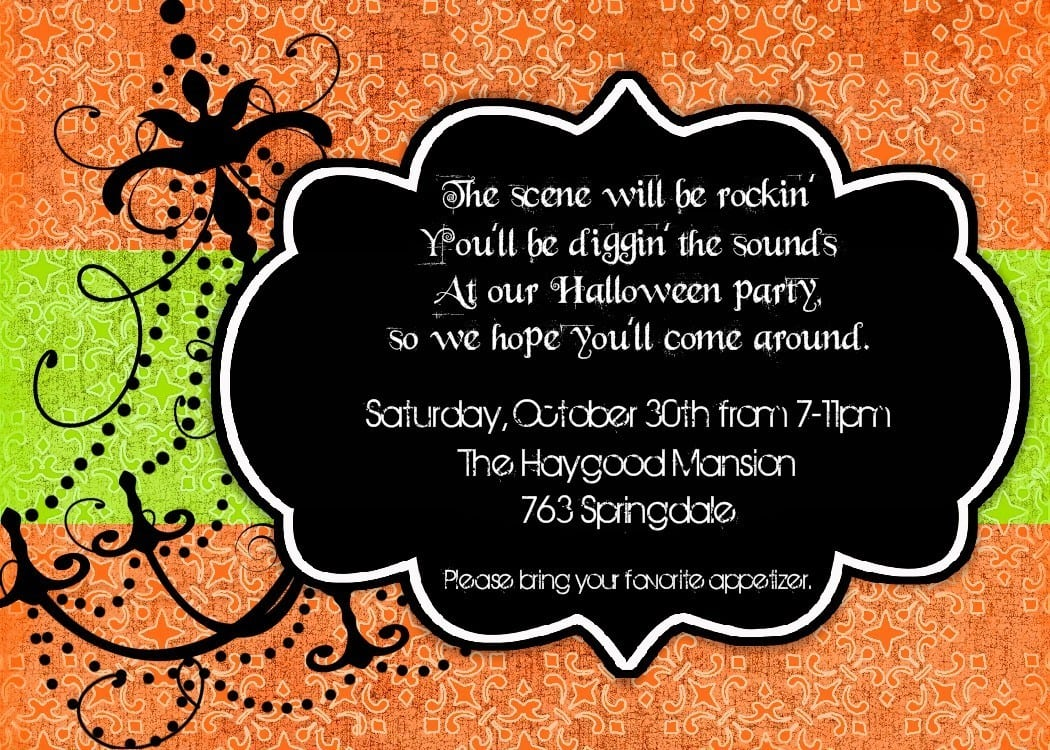 Kids Halloween Party Invitations Kids Halloween Party Invitations