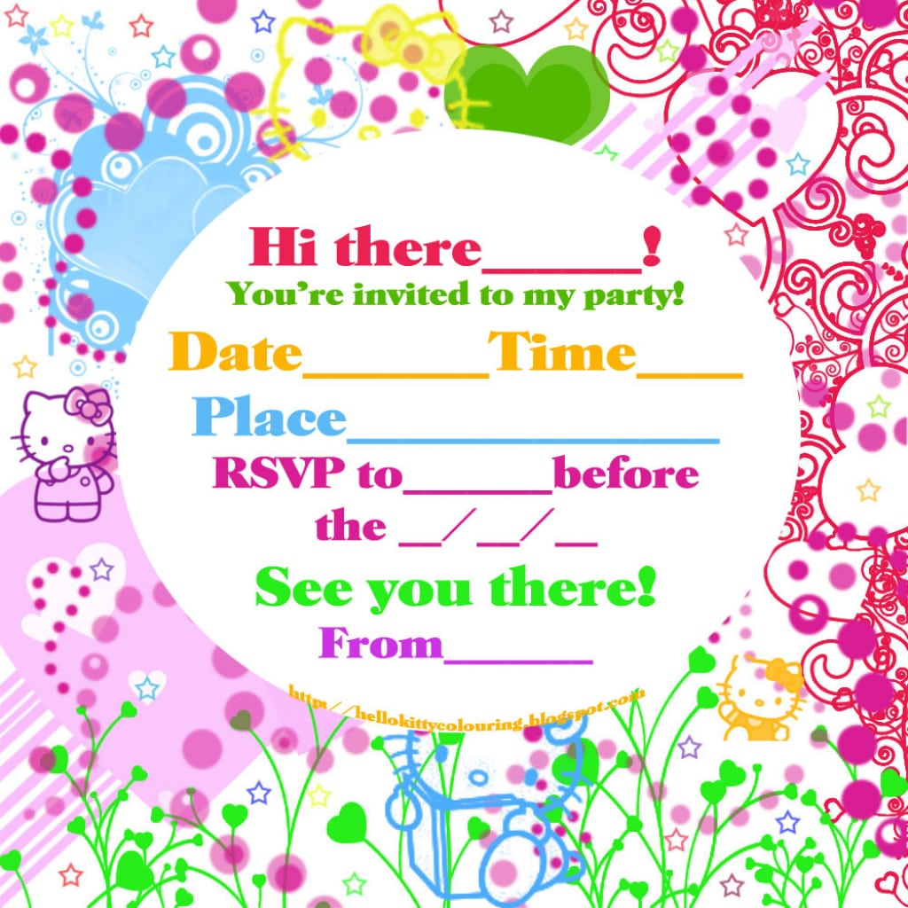 Kitty Party Invitation Cards - Mickey Mouse Invitations Templates