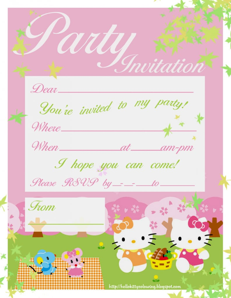 Kitty party invitation cards mickey mouse invitations templates stopboris Image collections