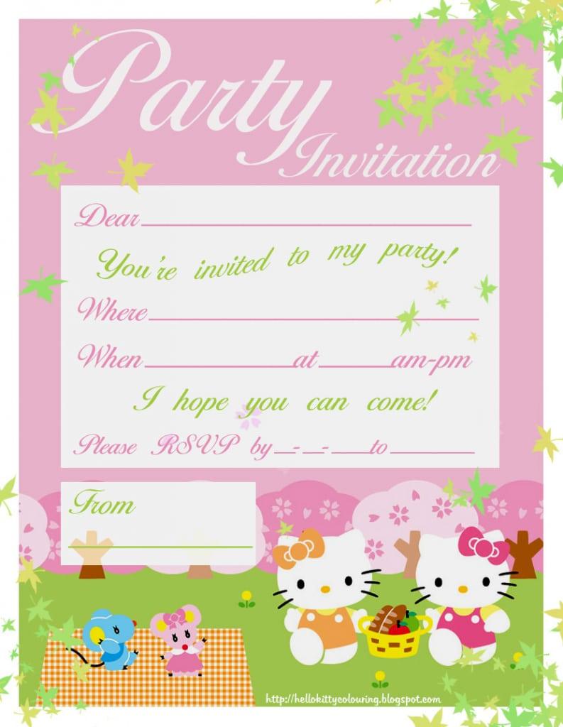 Kitty Party Invitation Cards