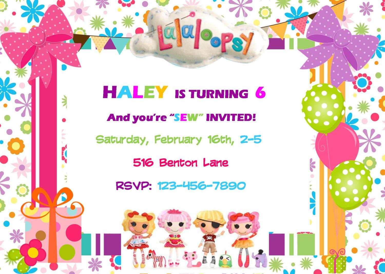 Lalaloopsy Party Invitation Birthday Party Baby Shower Digital
