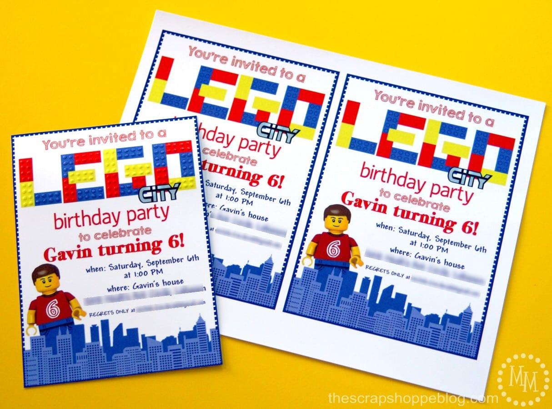 Lego Birthday Invitations