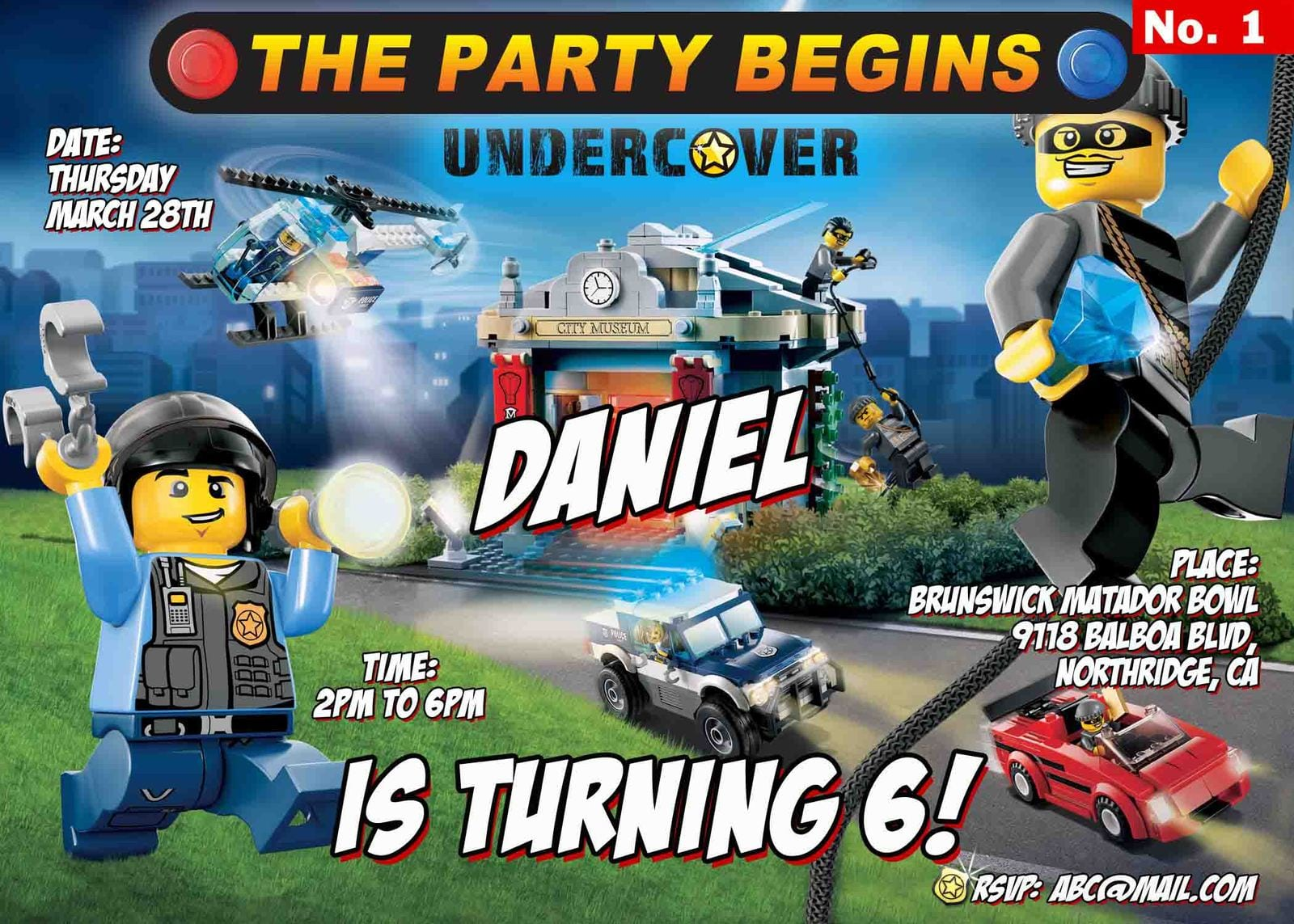 Lego City Party Invitations - Mickey Mouse Invitations Templates