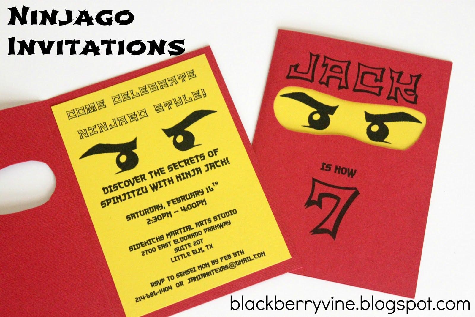 Ninjago Party Invitations - Mickey Mouse Invitations Templates