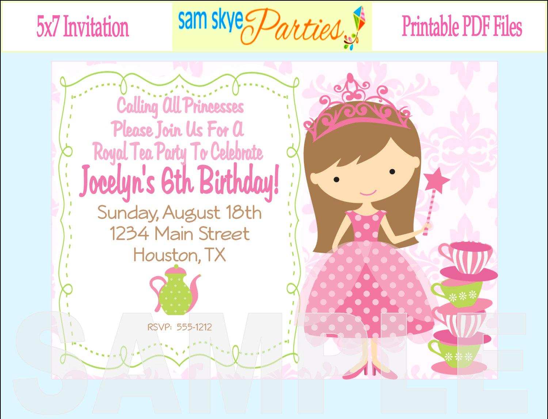 Little Girl Birthday Party Invitations