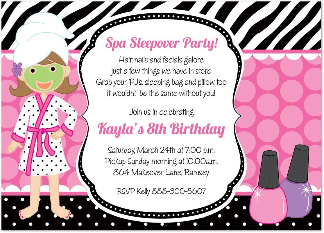 Little Girl Birthday Party Invitations