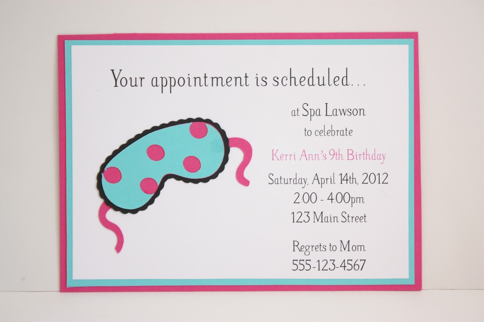 Little Girl Spa Party Invitations