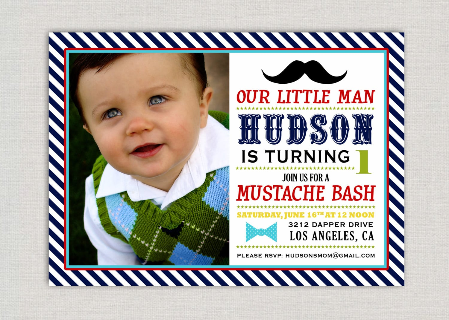 Little Man Birthday Party Invitations - Mickey Mouse Invitations ...