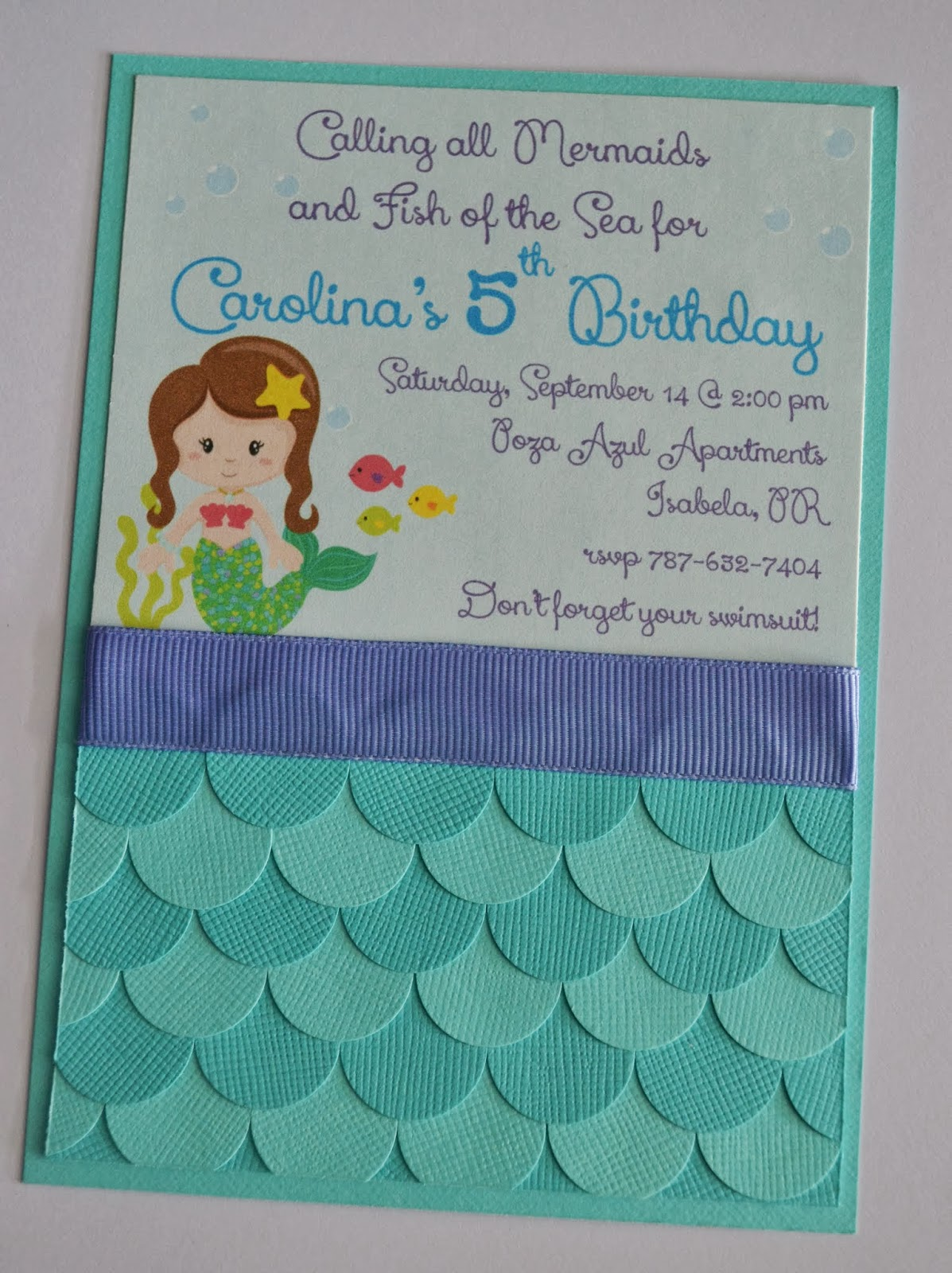 Little Mermaid Party Invitations