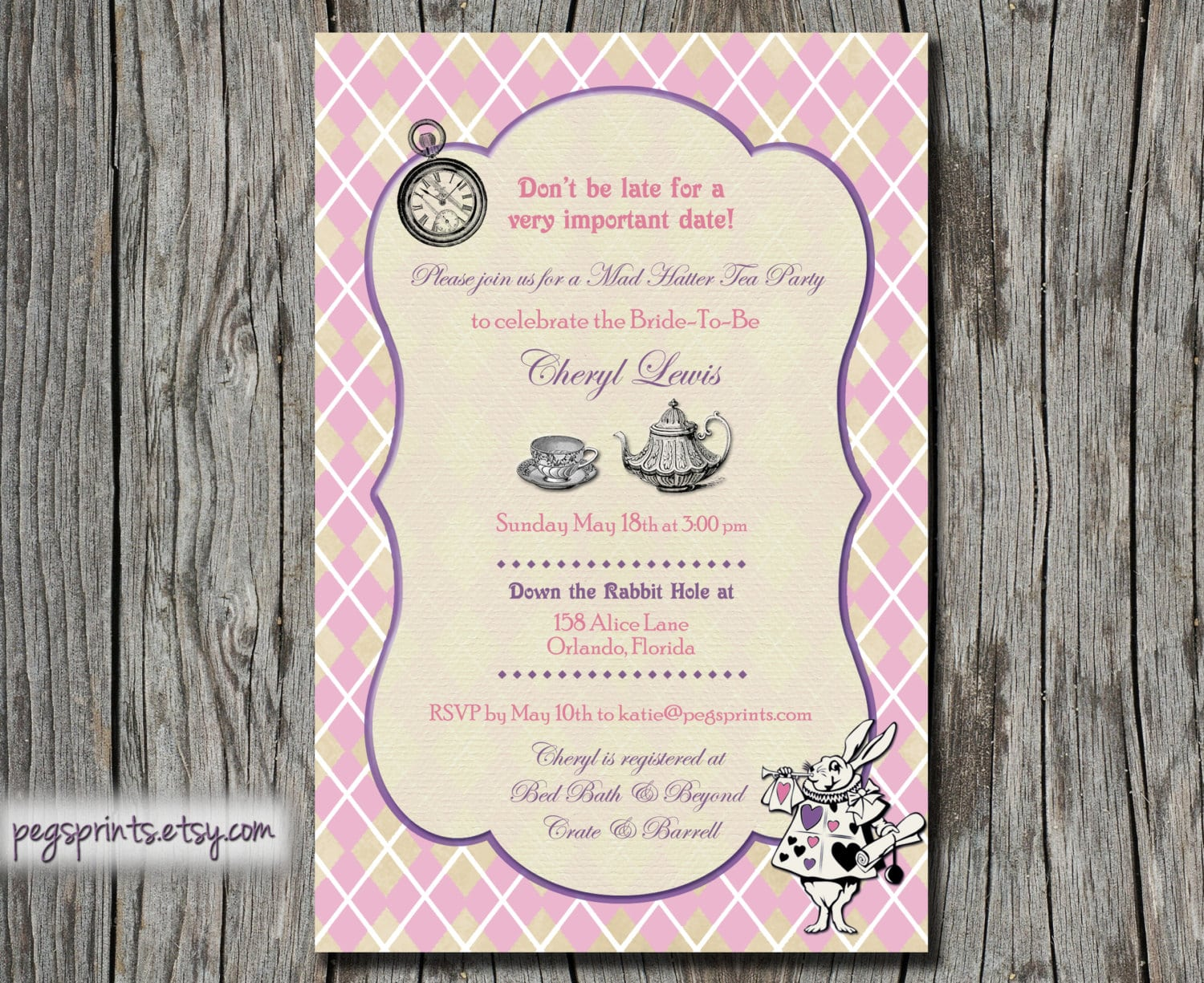 Mad hatter tea party invitation wording stopboris Gallery