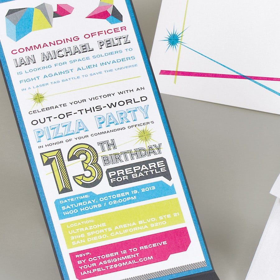 Magnificent 13th Birthday Party Invitations You Can Modify