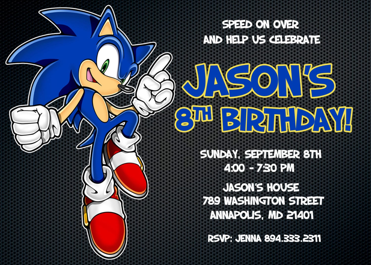 Sonic The Hedgehog Party Invitations Mickey Mouse Invitations Templates