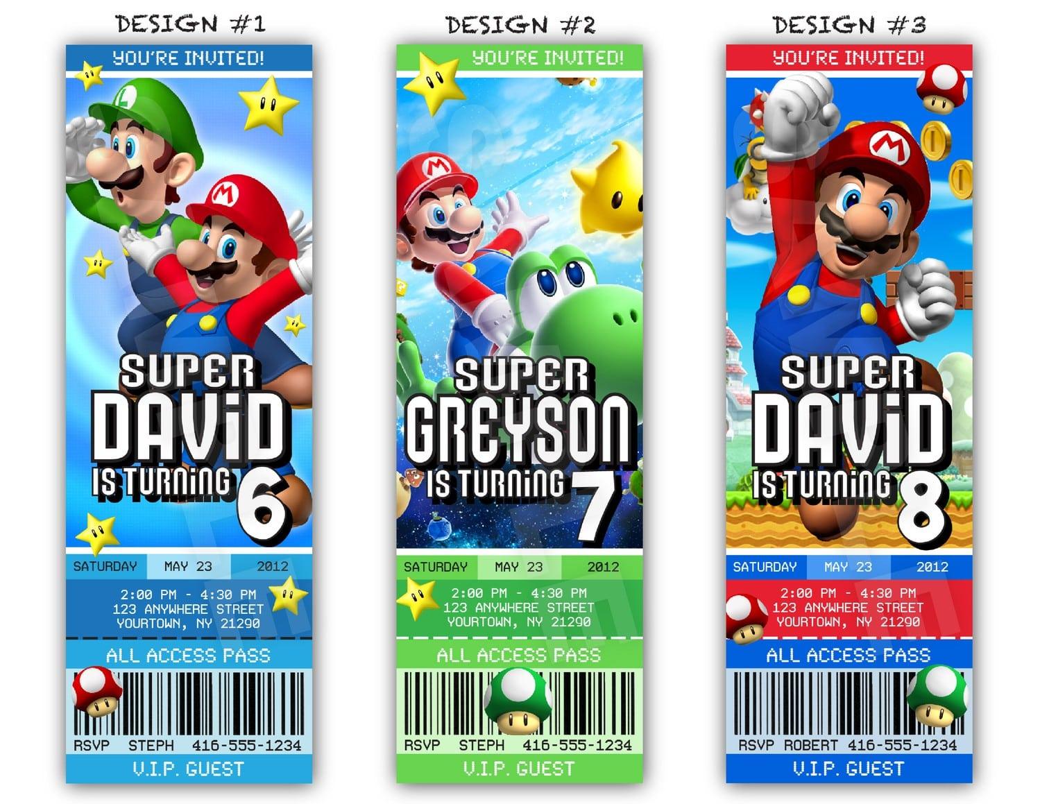 Mario Party Invitations – Gangcraft Net