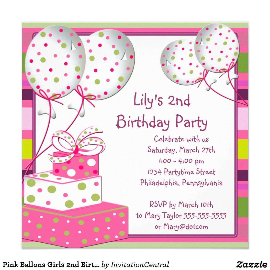 Marvellous Invitation Card Birthday Party Template Given