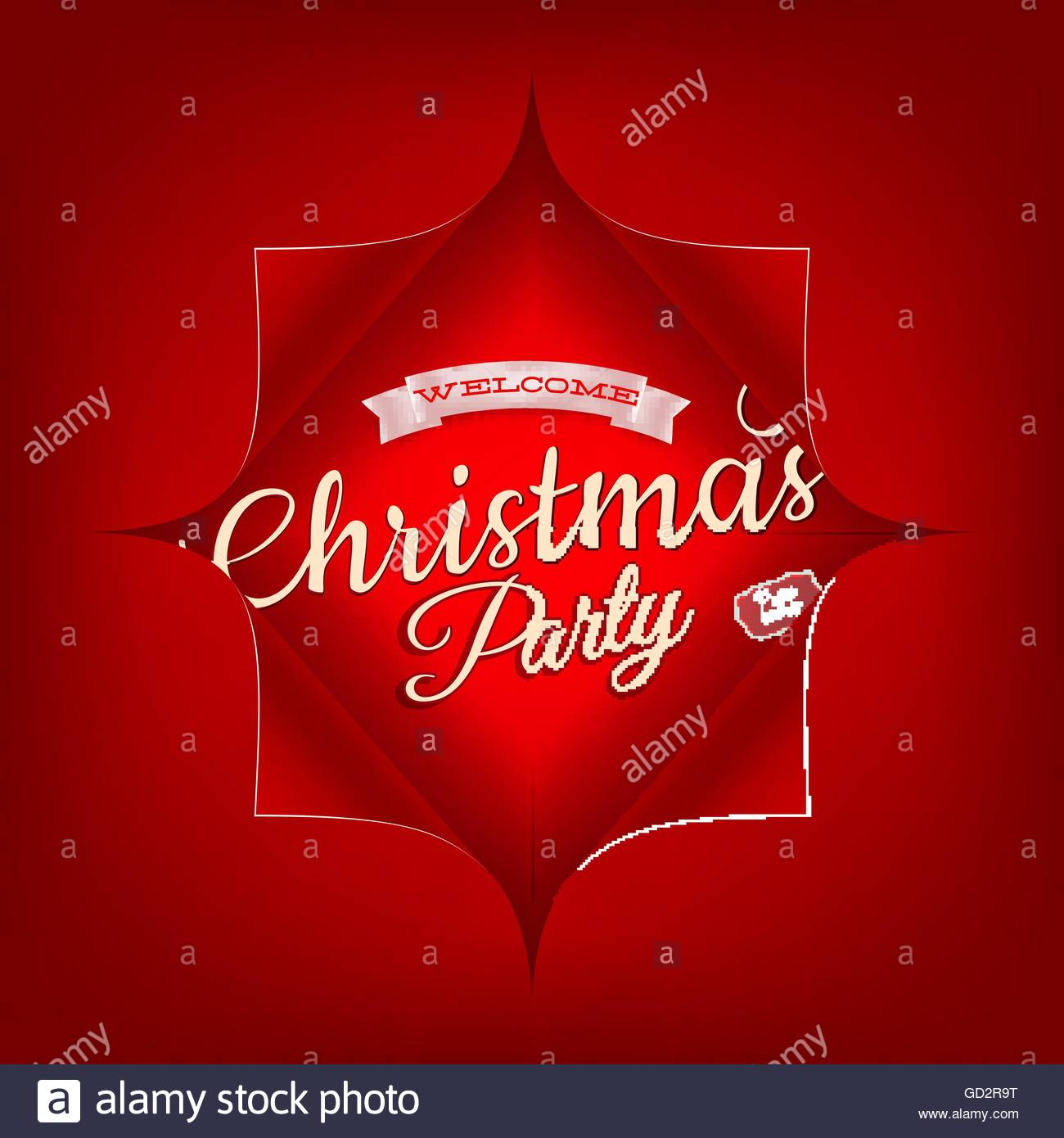 Merry Christmas Party Invitation Template  Eps 10 Stock Photo