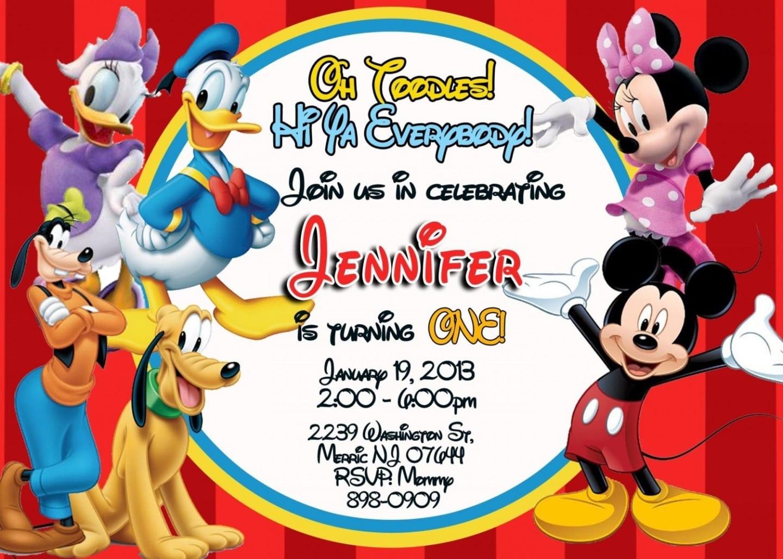 Mickey Mouse Birthday Invitations Templates