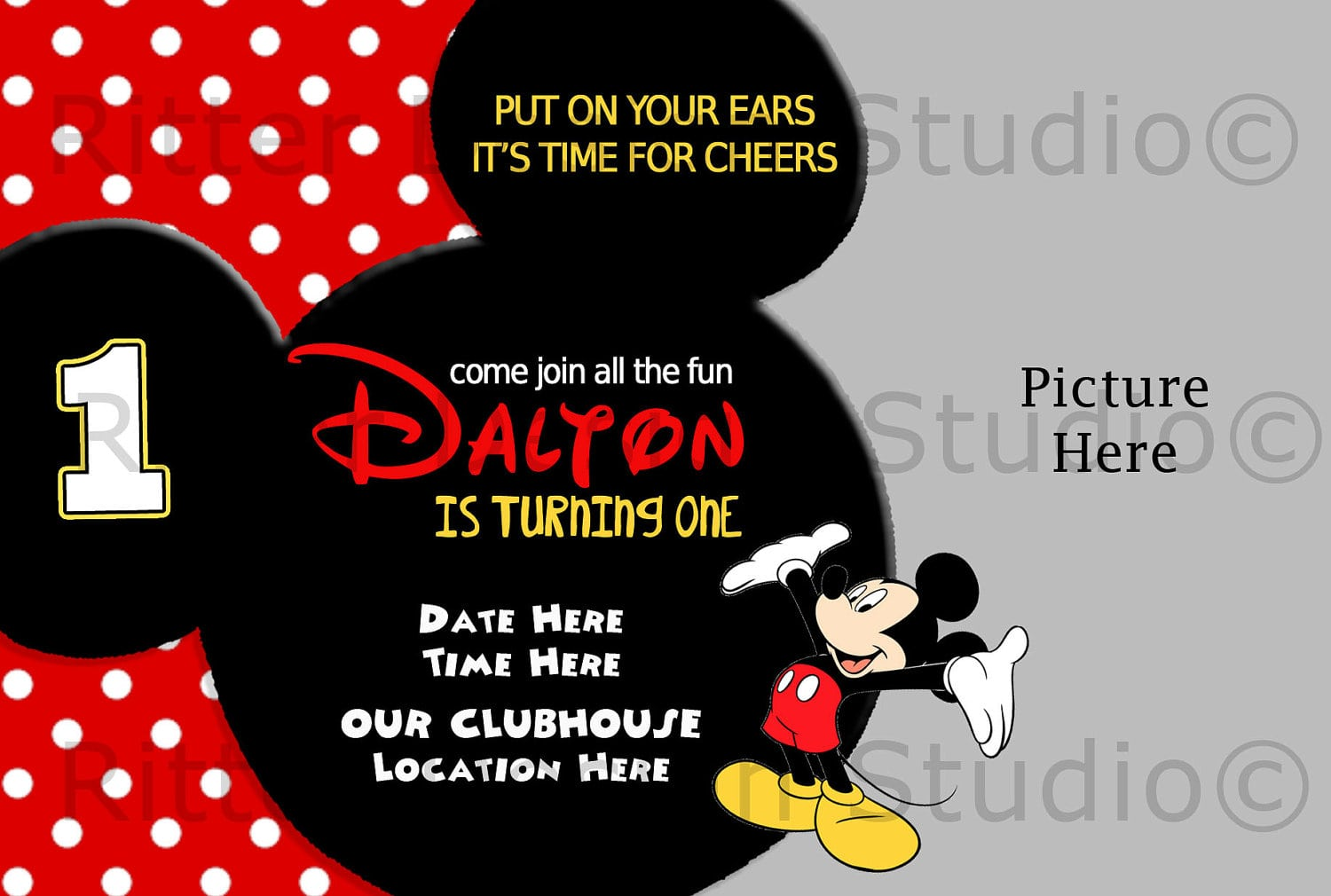 Mickey Mouse Party Invitations Templates