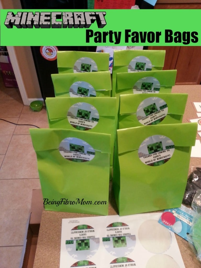 Minecraft Printable Party Supplies