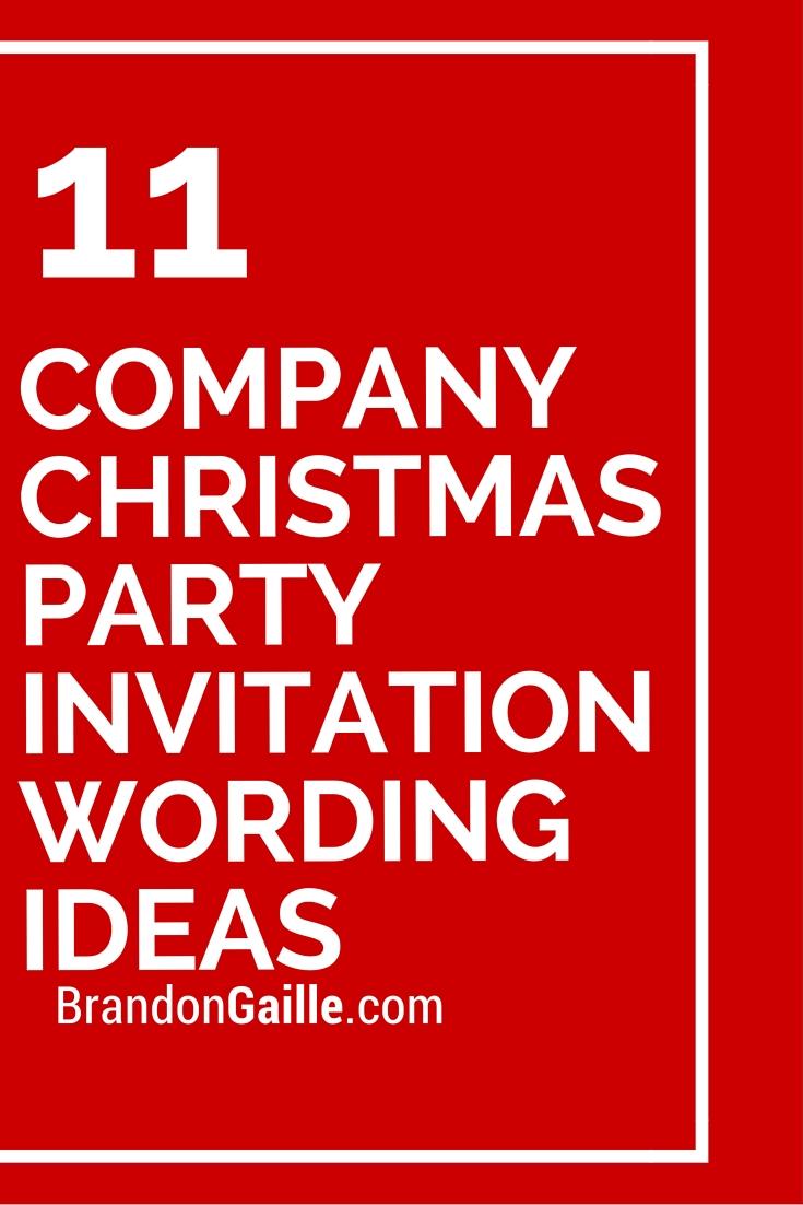 Company Christmas Party Invitation Wording