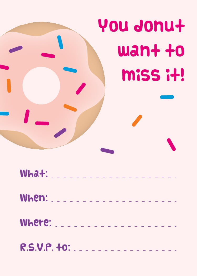 Mini Donuts + Free Printable Donut Party Invitations