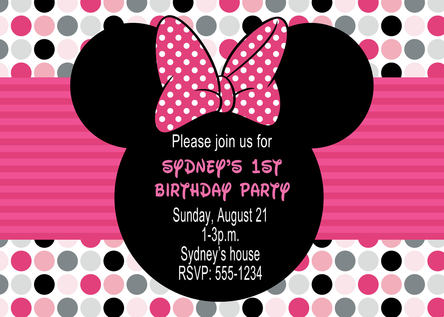 Minnie Mouse Party Invitations - Mickey Mouse Invitations Templates