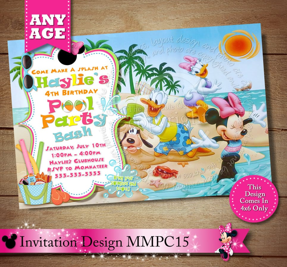 Mickey Minnie Party Invitations - Mickey Mouse Invitations Templates