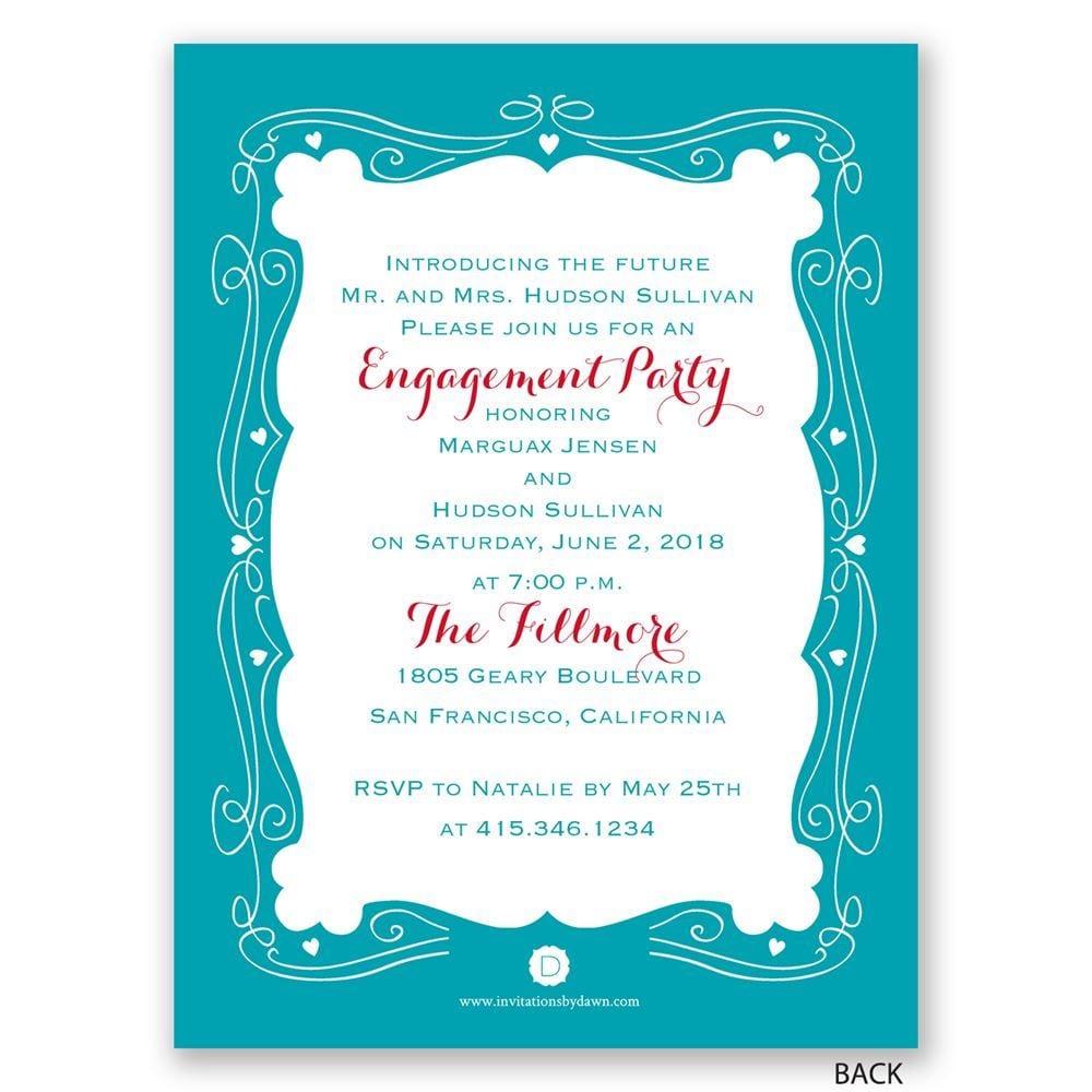 Modern Fairytale Petite Engagement Party Invitation