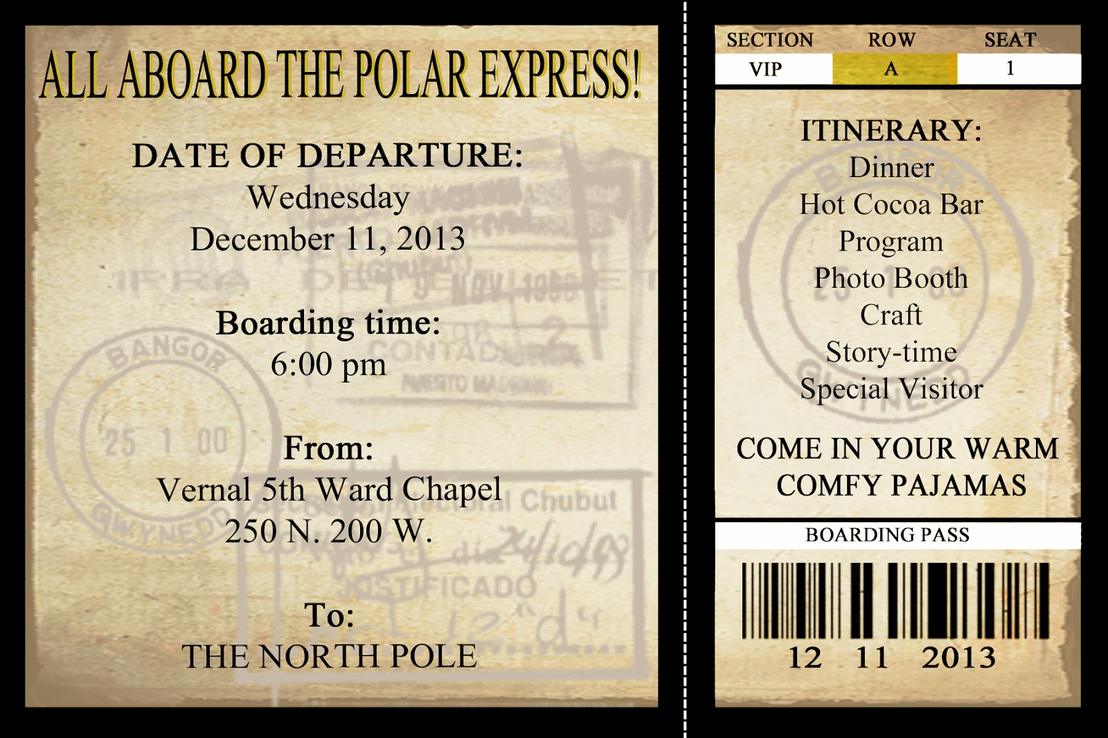 Mommy Will Play  Christmas Party Polar Express Invitations!