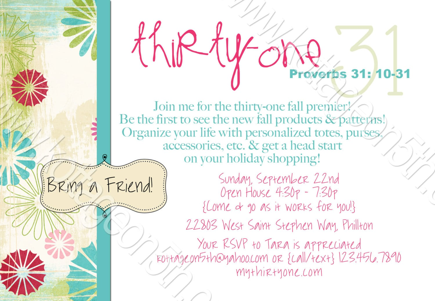 Thirty one party invitation ideas stopboris Choice Image