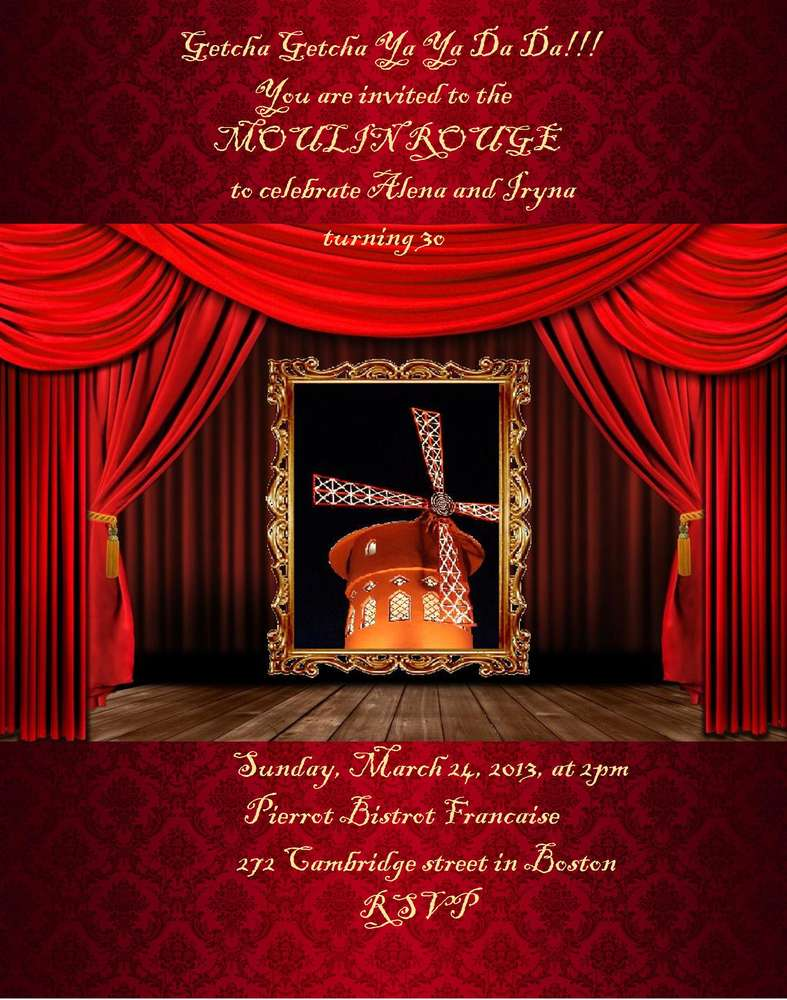 Moulin Rouge Party Invitations