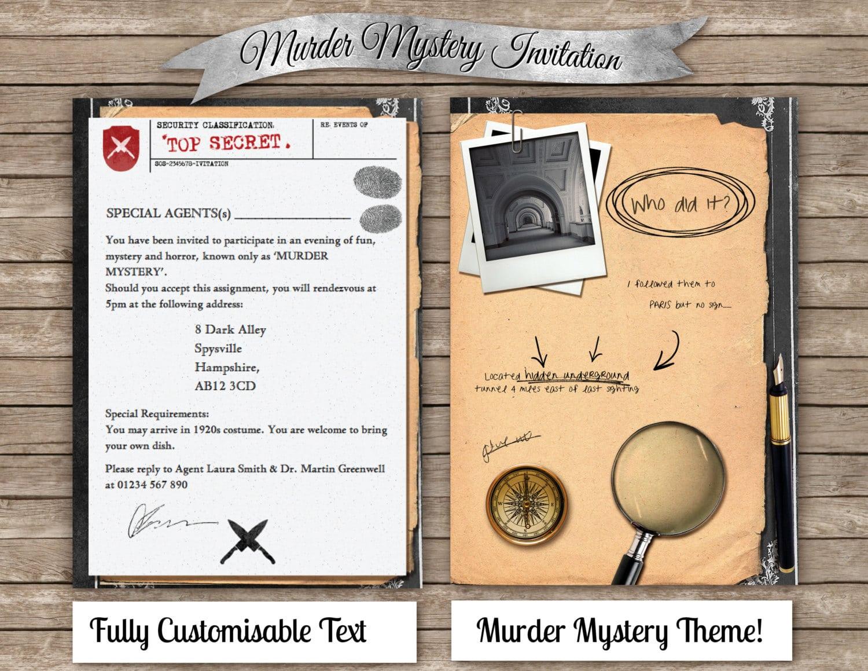 Murder Mystery Dinner Invitation