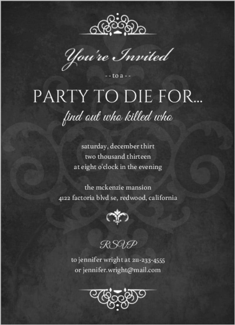 Murder Mystery Invitation Template