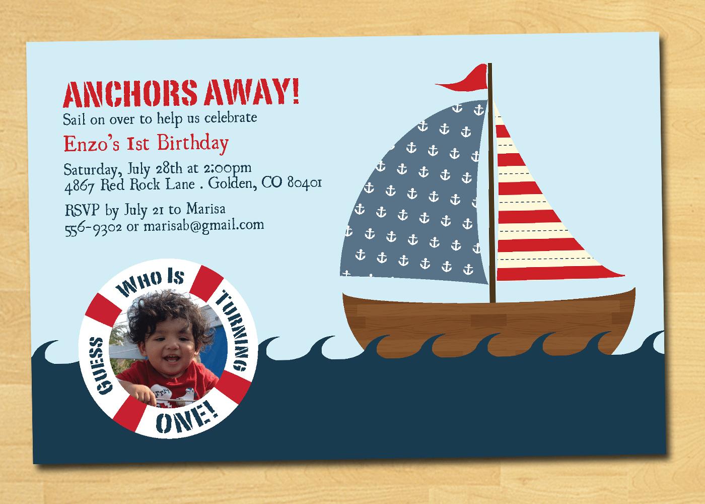 Nautical Birthday Invitations Templates Ideas — All Invitations Ideas