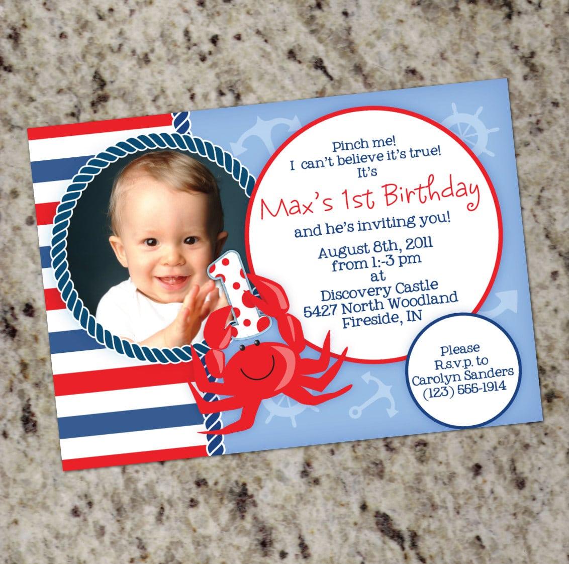 Nautical Theme Birthday Invitations