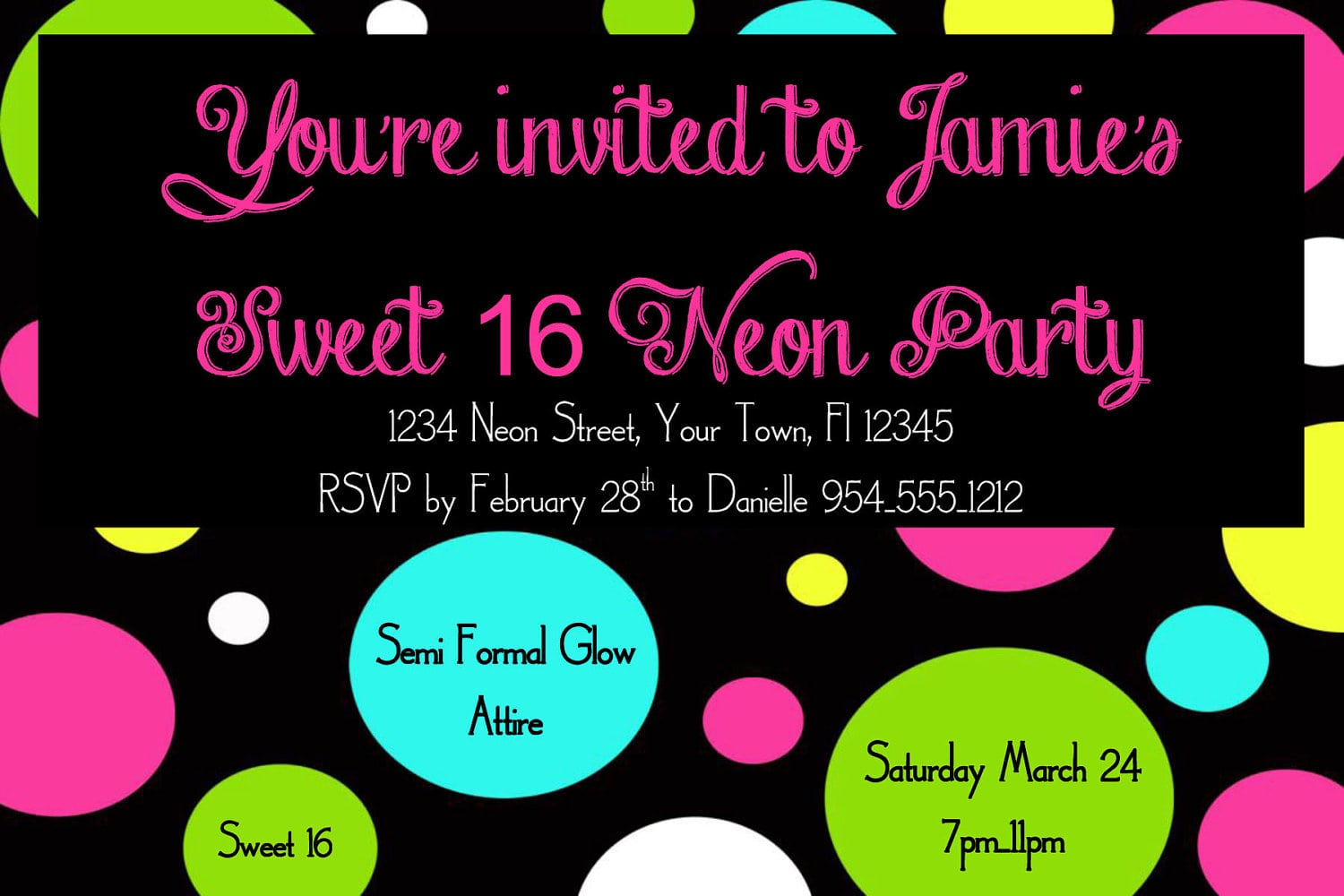 Neon Party Invitations – Gangcraft Net