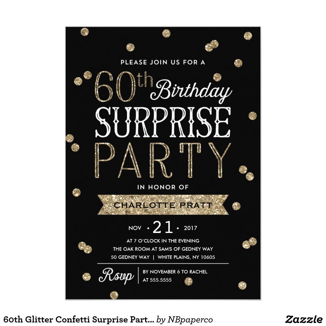 Nice Free Printable 60th Birthday Invitations Get More Invitation
