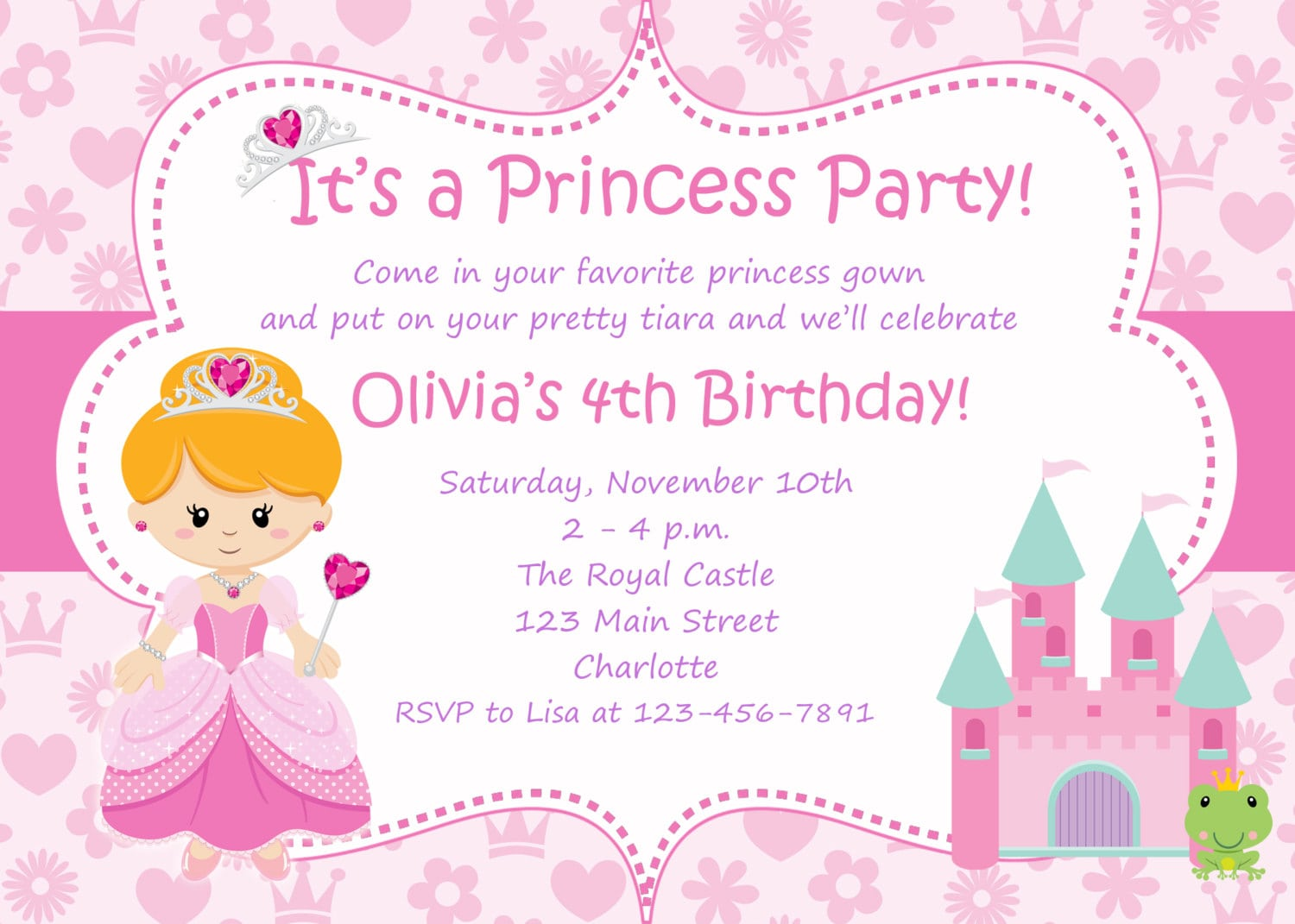 Nice Printable Hello Kitty Birthday Invitation Template
