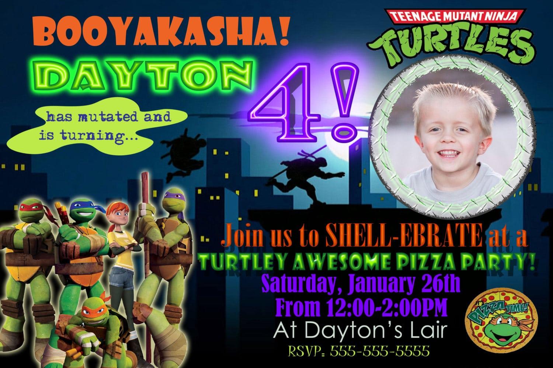Ninja Turtles Party Invitation Ideas - Mickey Mouse Invitations ...
