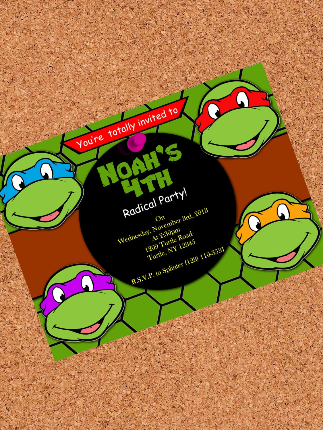 Ninja Turtle Party Invitations