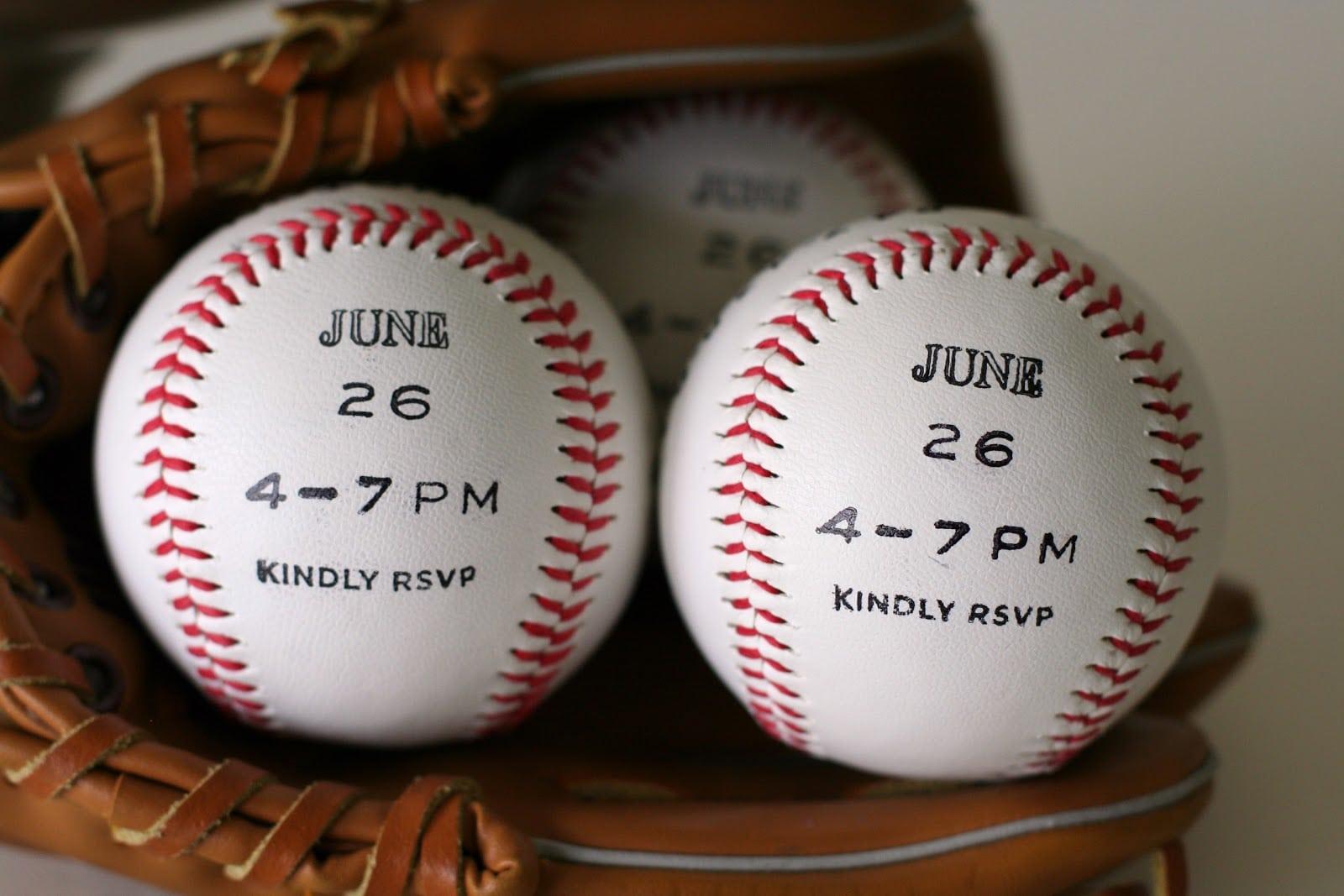 Notable Nest  Baseball Party Invitations
